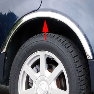 Cadillac Srx Chrome Wheel Well Fender Trim 2004 2005