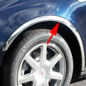 Cadillac Sts Chrome Wheel Well Fender Trim 2005 2006
