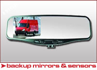 Universal Backup Sensors and Mirrors