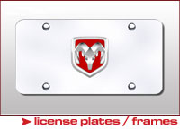 Automotive License Plates and Frames