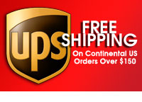 Free shipping on most US orders over $150