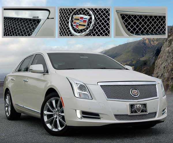Cadillac XTS Chrome Heavy Mesh Grille by E&G CLICS, 2013, 2014 ...