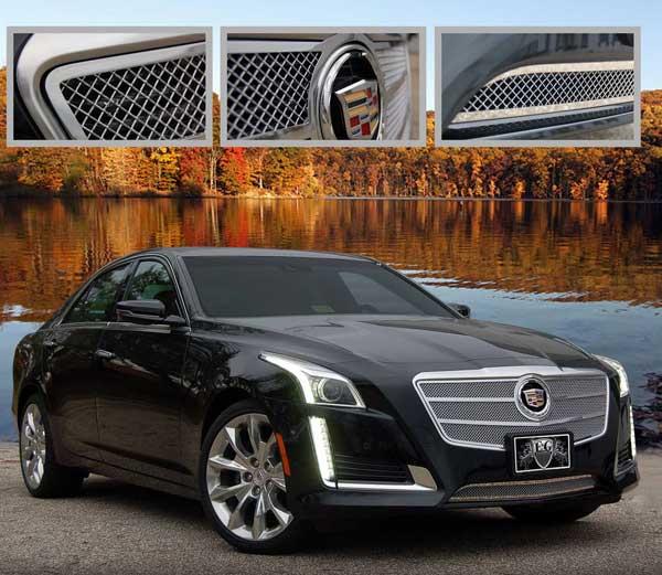 Cadillac CTS Sedan Fine Mesh Overlay Grille, 2014