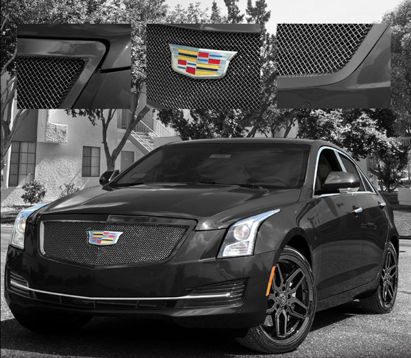 Cadillac ATS Sedan Fine Mesh 'All Black' Grille, 2015
