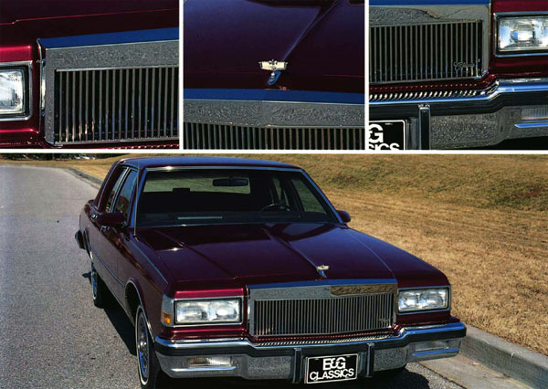 Chevrolet Caprice Chrome Vertical Bar Grille by E&G Classics, 1982 - 1990