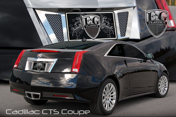 Cadillac CTS Coupe Fine Mesh Chrome Rear License Surround, 2011 ...