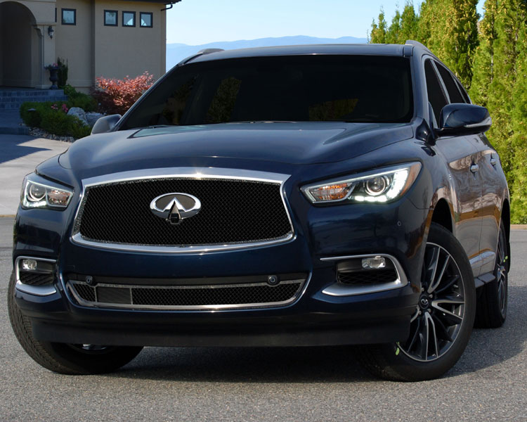Infiniti Qx60 Black Fine Mesh Upper And Lower Grille