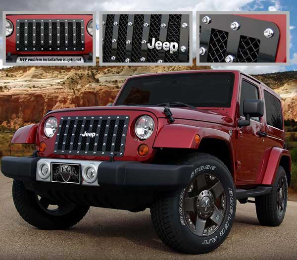 Jeep Wrangler E-Power Mesh Grille By E&G Classics, 2007