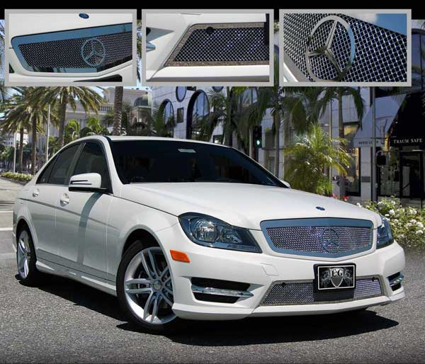 for benz radiator mercedes material abs amg silvery gloss grill black class diamond edition sports c grille
