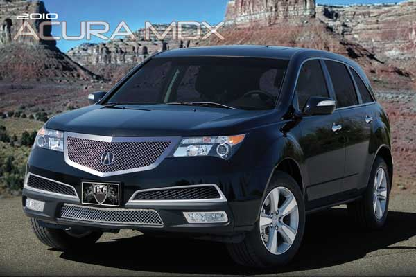 acura mdx chrome mesh grille by e g classics 2010 2011 2013. Black Bedroom Furniture Sets. Home Design Ideas