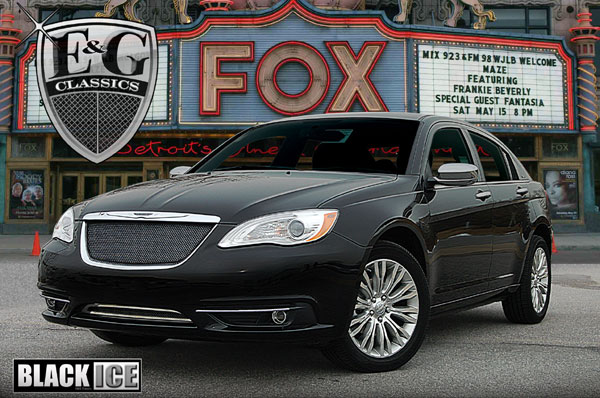 2012 Chrysler 200 Grill >> Chrysler 200 Chrome Fine Mesh Grille By E G Classics 2011 2012