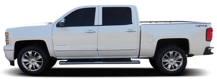 2015 Chevrolet Silverado 1500 Double Cab >> Chevrolet Silverado Chrome Body Side Moldings, 2014, 2015, 2016, 2017, 2018   ShopSAR.com