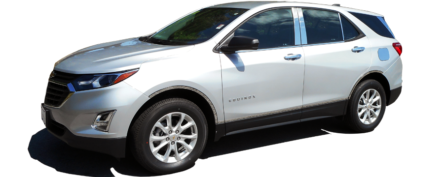 Stainless Chrome Pillar Post Trim Cover Overlay 6PC For 2018-2019 Chevy Equinox
