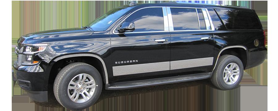 2015-2019 Cadillac Escalade 10Pc Chrome Pillar Post Stainless Steel Trim Door