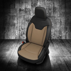 Katzkin Leather replacement seat upholstery for the Jeep