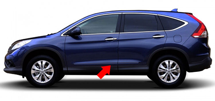 Honda CRV Painted Body Side Moldings