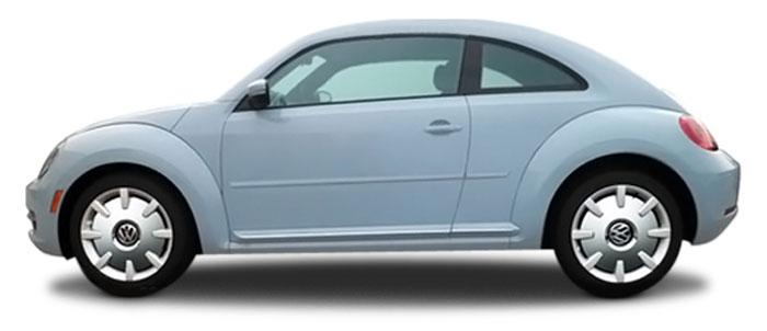 Volkswagen Beetle Painted Body Side Moldings 2012 2013