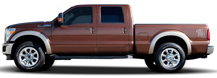 Ford Super Duty Painted Body Side Moldings 2008 2009