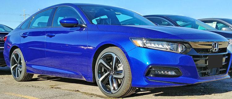 Honda Accord Sedan Painted Body Side Moldings Beveled