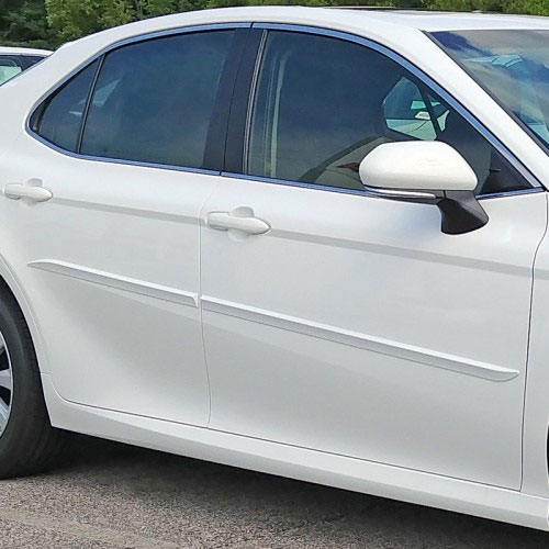 Toyota Camry Painted Body Side Moldings Beveled Design