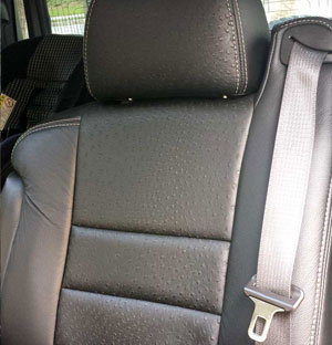 Katzkin Leather replacement seat upholstery for the Hummer