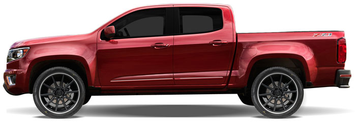 gmc canyon painted body side moldings  lower door   2015  2016  2017  2018  2019