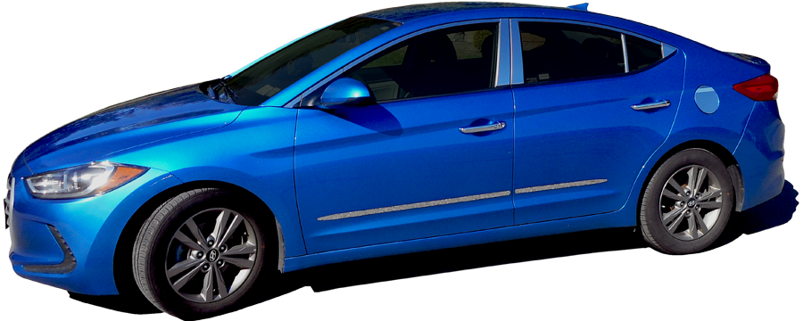 Hyundai Elantra Sedan Chrome Door Handle Covers, 2017 - 2019