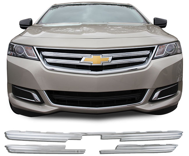 chevrolet impala chrome grille overlay  2014  2015  2016  2017  2018