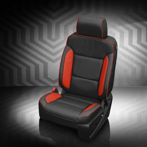 Aftermarket katzkin leather seat upholstery replacement kits for katzkin upholstery for silverado black wrap perf body salsa perf wings salsa contrast stitch salsa piping solutioingenieria Choice Image