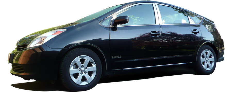 Toyota Prius Chrome Window Trim Package