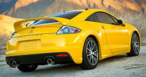 Mitsubishi Eclipse Painted Rear Spoiler (with light), 2006, 2007 ...
