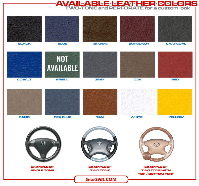 Leather Steering Wheel Cover Colors