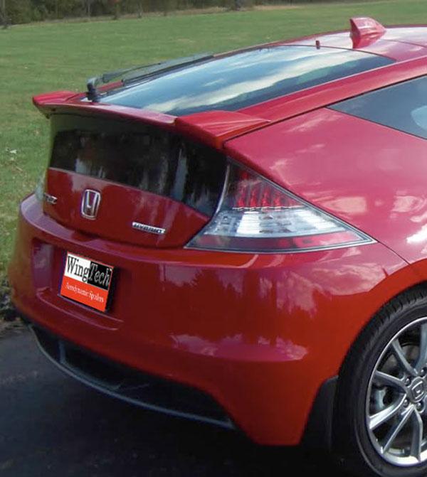 Honda CR-Z Lip Mount Painted Rear Spoiler, 2011, 2012
