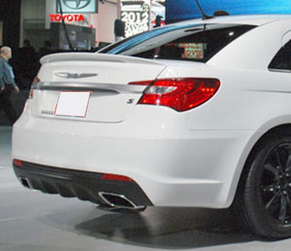 Chrysler 200 Rear >> Chrysler 200 Lip Mount Painted Rear Spoiler Large 2011 2014