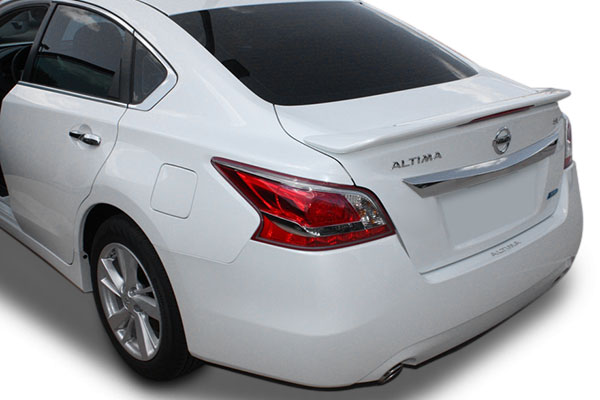 nissan altima sedan painted rear spoiler with light 2013. Black Bedroom Furniture Sets. Home Design Ideas