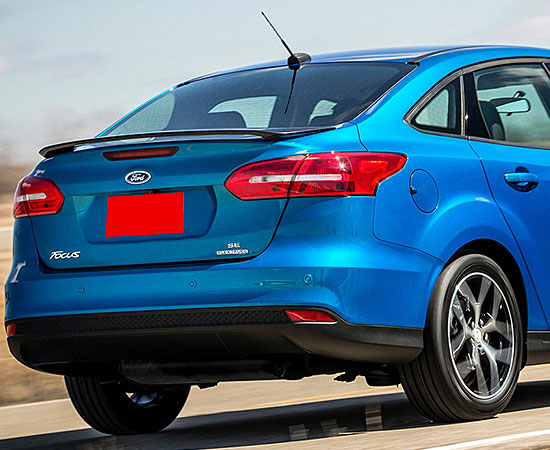 Ford Focus Sedan Painted Rear Spoiler, 2015 - 2018 on