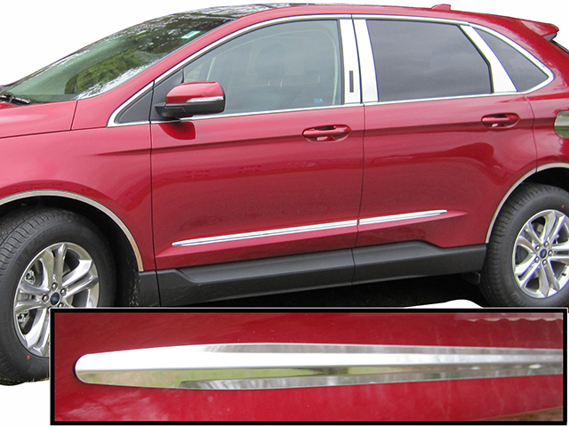 Ford Edge Chrome Side Molding Trim  Piece Set
