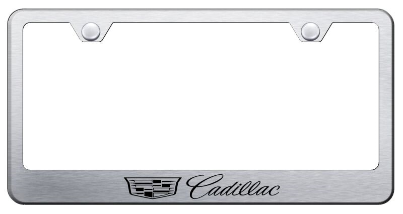 New Style Cadillac Brushed Stainless License Plate Frame