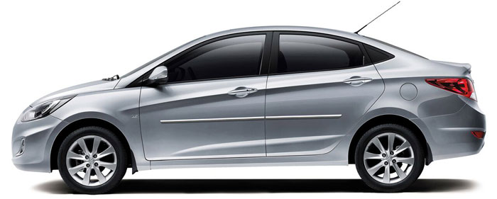 FOR HYUNDAI ACCENT Painted Body Side Mouldings Moldings Trim 2012-2017