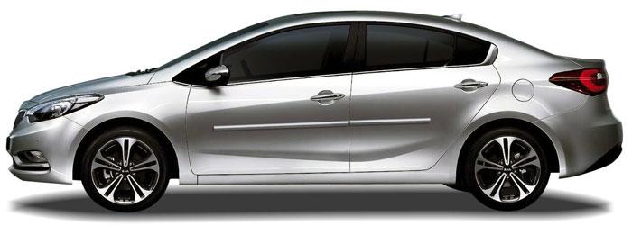 Kia Forte Sedan Chrome Body Side Moldings 2014 2015