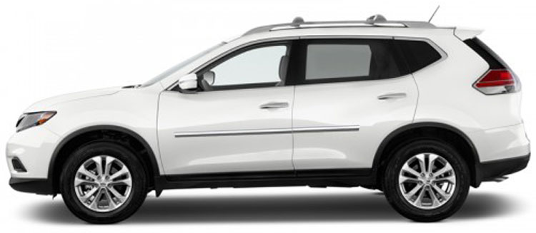 Nissan Rogue Chrome Body Side Moldings
