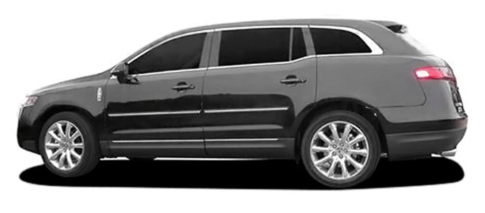 Lincoln MKT Painted Body Side Moldings with Chrome Inserts