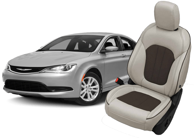 Katzkin Leather Replacement Seat Upholstery For The Chrysler 200 Shopsar Com
