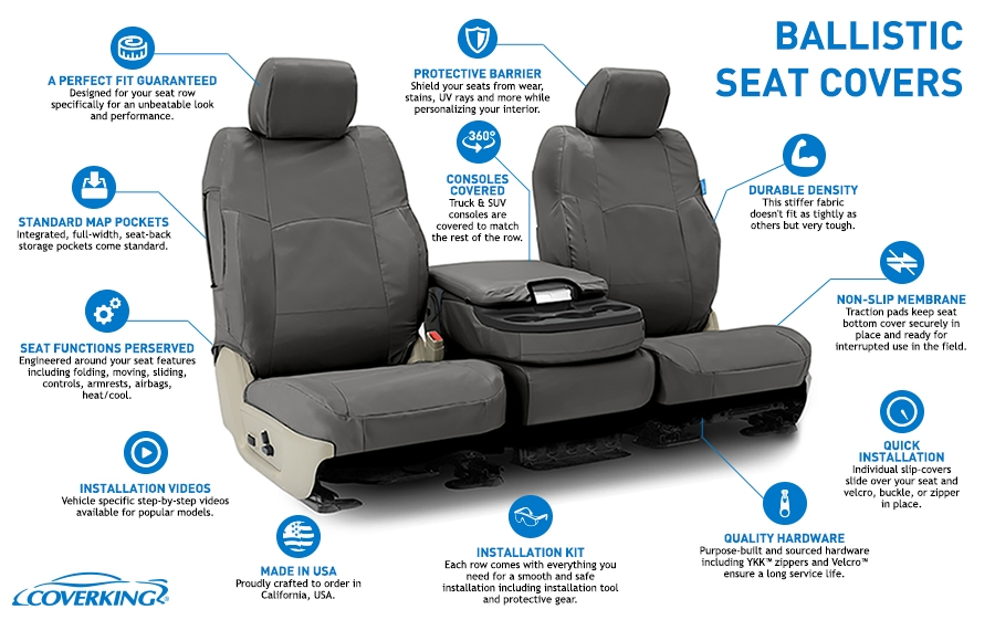 Cordura Tactical Auto Seat Covers By CoverKing