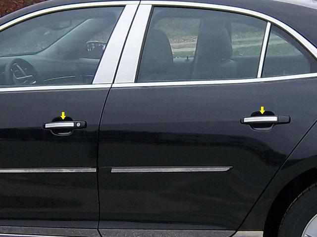 Chevrolet Malibu Chrome Door Handle Inserts 4 piece set 2013 - 2015 & Chevrolet Malibu Chrome Door Handle Accents 2013 2014 2015 ...