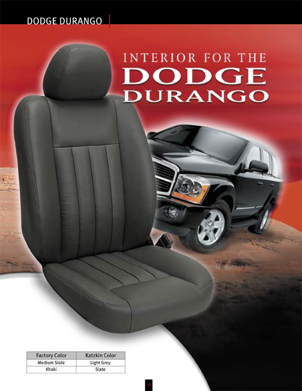 dodge durango se katzkin leather seat upholstery 2008. Black Bedroom Furniture Sets. Home Design Ideas
