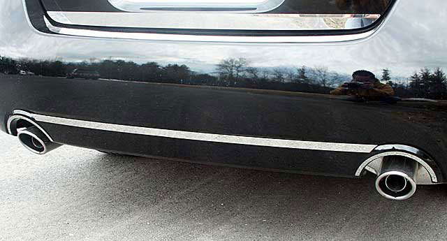 nissan altima sedan stainless steel rear bumper exhaust trim, 2007nissan altima sedan chrome exhaust trim