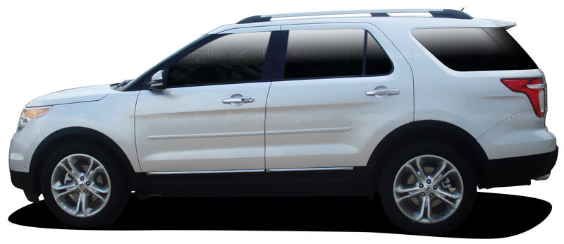 Ford Explorer Painted Body Side Moldings, 2011, 2012, 2013, 2014, 2015, 2016, 2017, 2018 ...