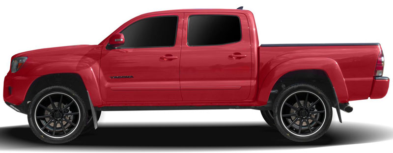 Toyota Tacoma Double Cab Lower Door Painted Body Side Moldings