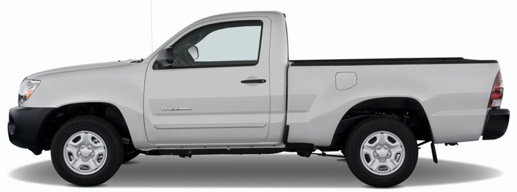 Toyota Tacoma Regular Cab Lower Door Painted Body Side Moldings